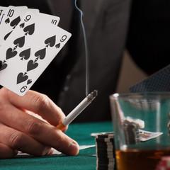 Evening in casino