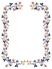 Elegant frame with roses