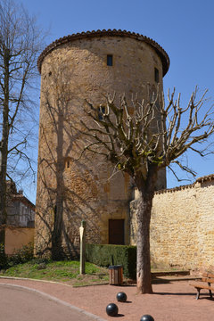 France, picturesque city of Charlieu in Rhone Alpes