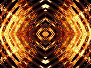 Flames Ripple Water Background