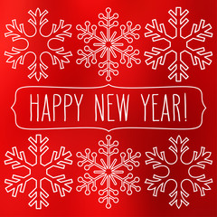 Snowflakes and Happy New Year