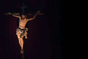 Jesus christ crucified. Crucifix. Christian symbol
