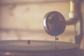playing vintage music