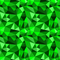 Vector seamless green abstract geometric rumpled triangular graphic background. Digital vector illustration