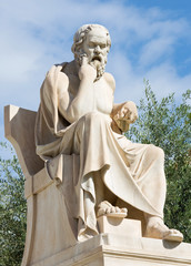 Athens - The statue of Socrates in front of National Academy building