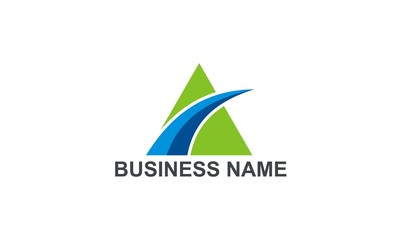 triangle loop pyramid business logo