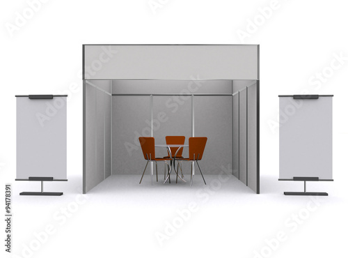 Exhibition Stand Free Mockup : Exhibition stand d design mockup vector free download