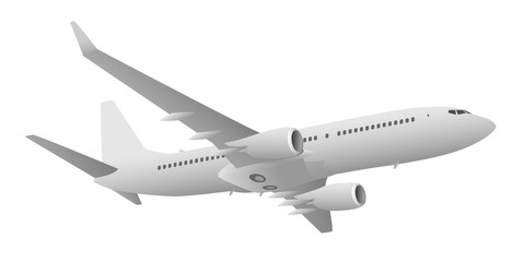 Passenger Jet Airliner Vector Illustration