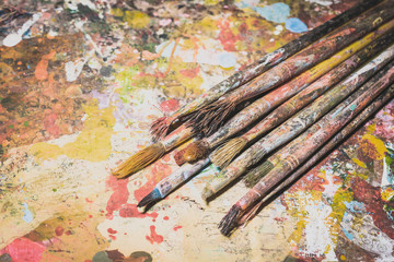 old paintbrushes