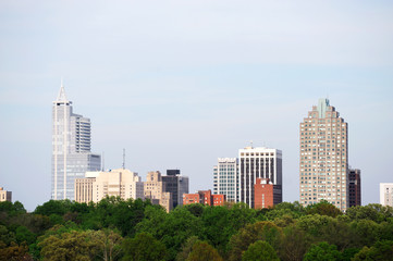 Raleigh downtown skyline