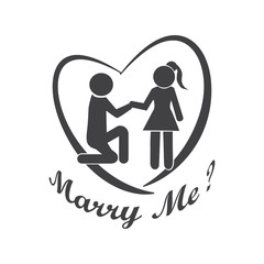 Couple symbol, Marry me illustration