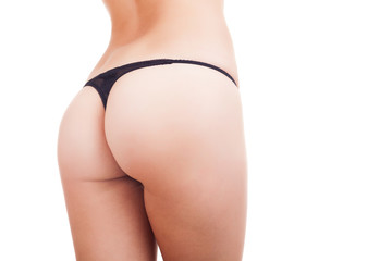 Sexy butt in underwear isolated on white background
