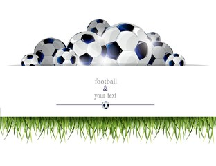 football print with black and white balls