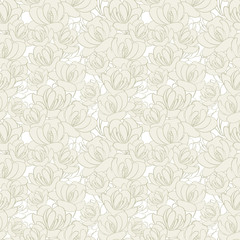retrop floral seamless pattern