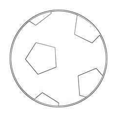 Illustration: Coloring Book Series: Sport Ball: Football. Soccer. Soft thin line. Print it and bring it to Life with Color! Fantastic Outline / Sketch / Line Art Design.