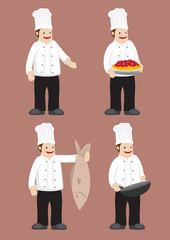 Happy Chef Vector Cartoon Character