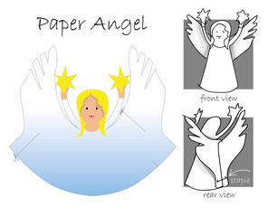 Template for Paper Angel