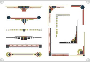 avant-garde design elements. Frame and border