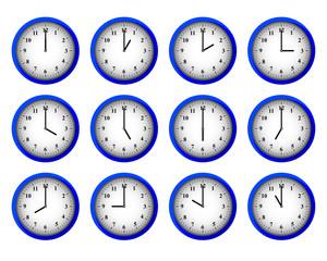 Modern Clocks Set