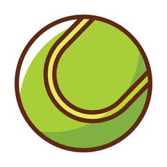 Tennis Ball Vector Icon, Sport Element