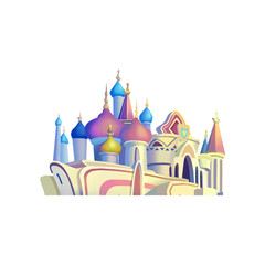 Illustration: Elements Set: Palace. Fantastic Realistic Cartoon Life Style