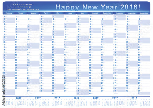 calendar 2016 english printable organizer planner contains the dates highlighted the