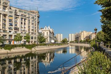 Dambovita river in Bucharest