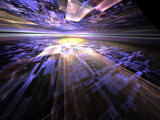 Abstract digitally generated technology background
