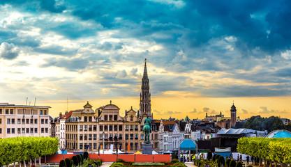Foto op Canvas Brussel Panorama of Brussels
