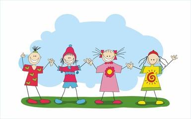иллюстрация дети