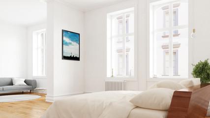 Schlafzimmer in Berlin in Altbauwohnung