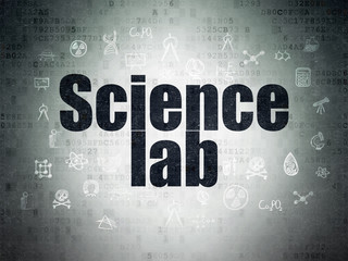 Science concept: Science Lab on Digital Paper background