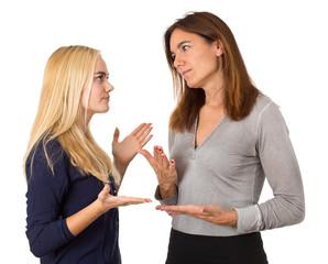 Mutter im Konflikt mit Tochter - Pubertät - Streit