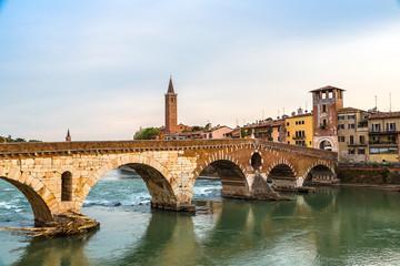 Bridge in Verona, Italy,