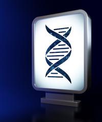 Healthcare concept: DNA on billboard background