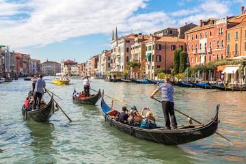 Printed kitchen splashbacks Gondolas Gondola on Canal Grande in Venice