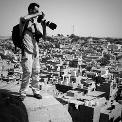 Fotografo sul tetto