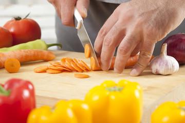 Preparing fresh organic food