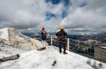 Climbing, Le Tofane Mountain, Dolomites