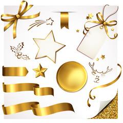 Set Weihnachten Gold