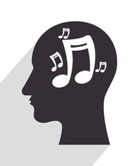 in head silhouette