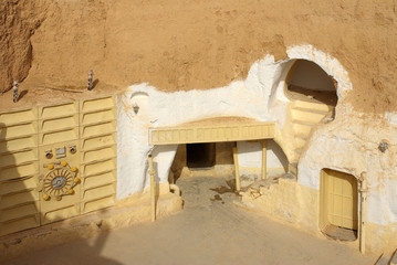 "TUNISIA, AFRICA - August 03, 2012: Scenery for the film ""Star Wa"