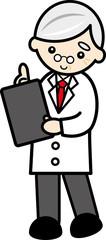 立ち姿の医者