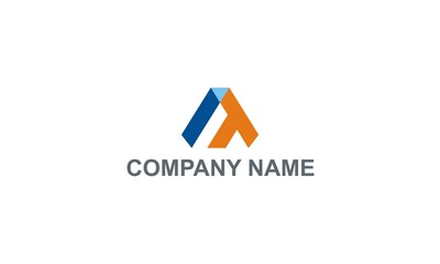 triangle shape colored company logo