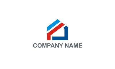 home shape construction company logo