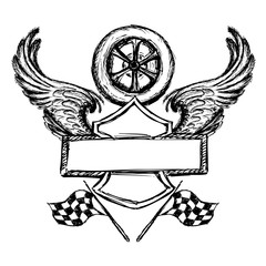 biker tattoo or emblem
