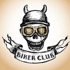 biker tattoo or emblem