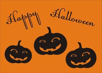 three pumpkins