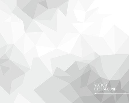 White polygonal vector background