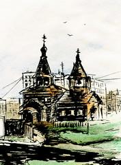 Orthodox Church Sketch